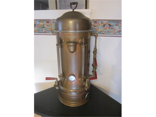 old T J TOPPER coffee urn