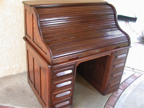Desk, Roll Top