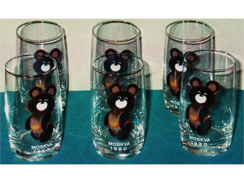 Moscow Olympics Glasses