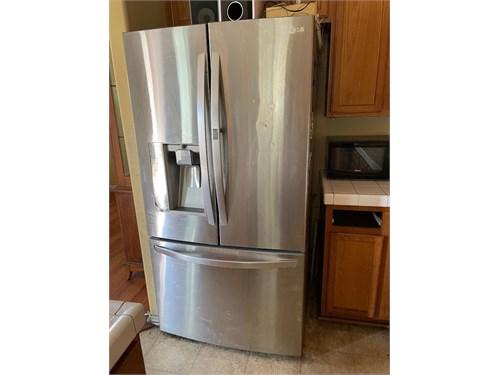 2 fridge and gas range
