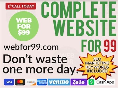 Complete Website for $99