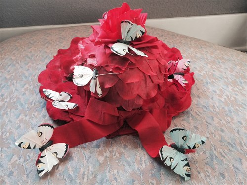 Red Rose Petal Hat