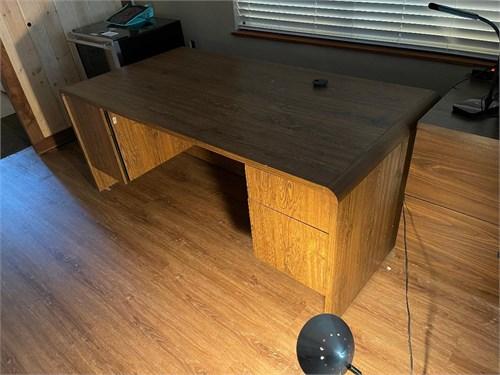 """60"""" oak wood desk"""