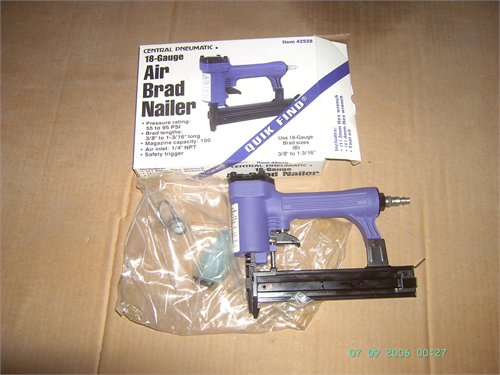 BRAD NAILER, 18 GAGE, new