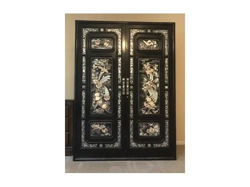 Black armoire