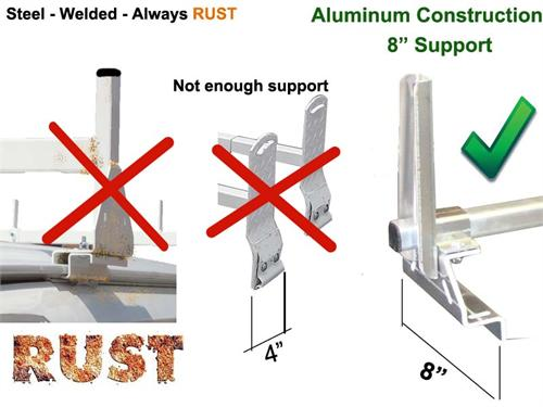 2 Bar Aluminum Rack - NEW