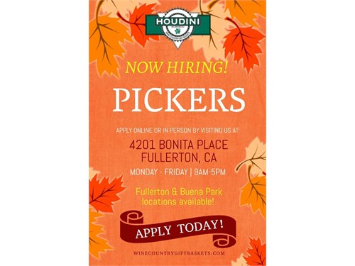 PICKERS - GREAT PAY!
