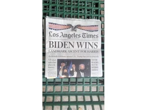 LA TIMES Biden Wins Nov 8