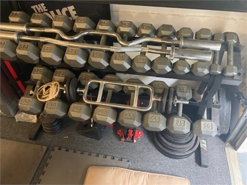 Dumbell set, much more