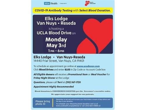 Blood Drive Monday 5/3
