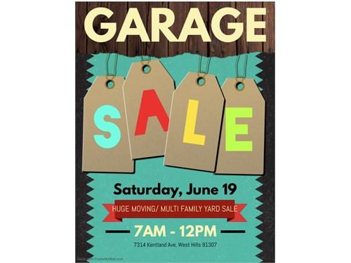 HUGE MOVING/GARAGE SALE!!