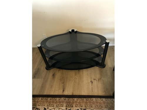 Corner Glass Table Stand