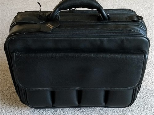 Leather Padded Laptop Bag