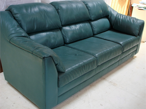 Green Leather Couch