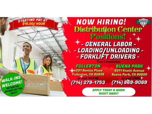 WANTED:Distribution Jobs Today!