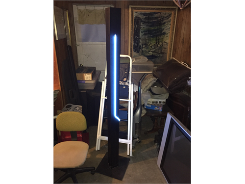 NEON Floor lamp blue neon