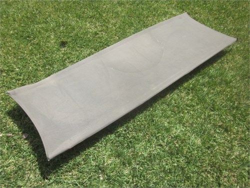 Steel frame camping cot