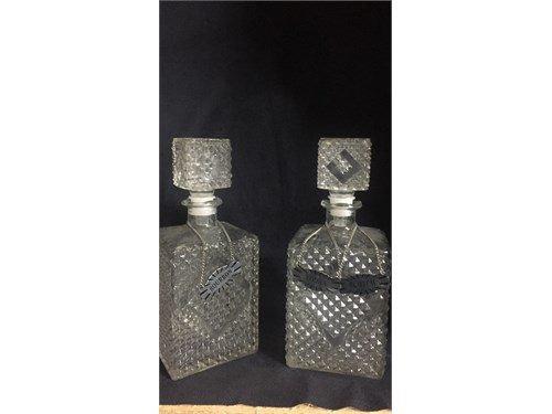 Glass alcohol decanters