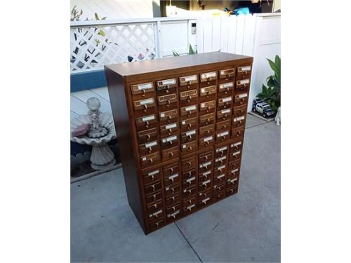 Vintage library drawer