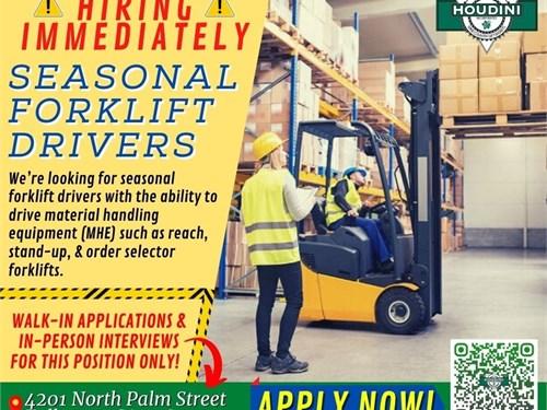 Seasonal Forklift Driver
