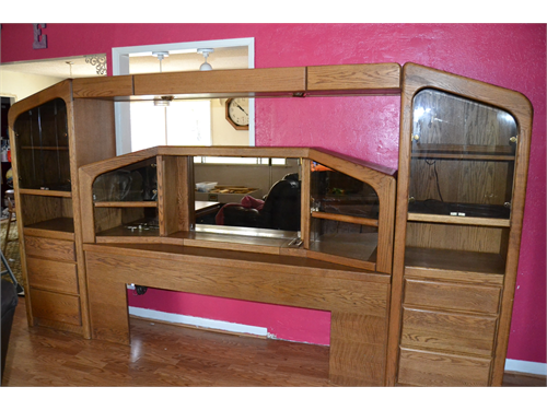 Solid Oak King Bed Unit For Sale Anderson Ca