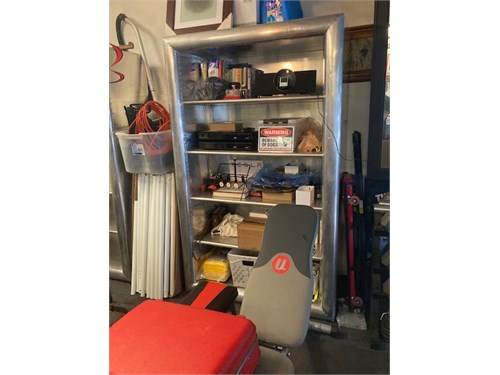 Aircraft Alum book shelfs