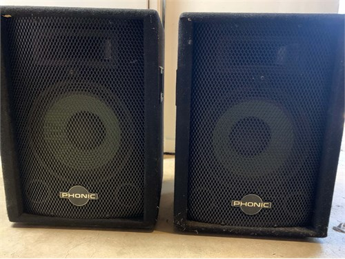 "Phonic 10"" 2 way speakers"