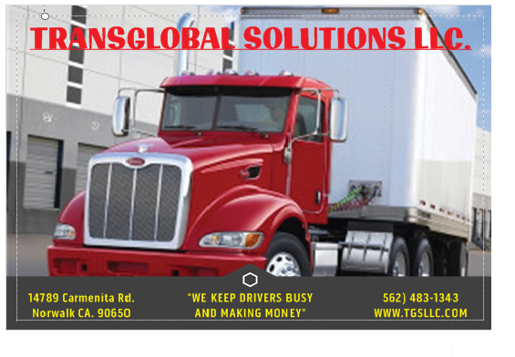 TransGlobal Solutions LLC is currently hiring class A drivers for multiple positions in and around