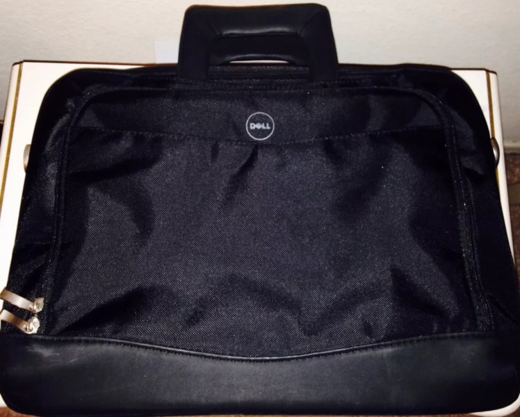 Dell Deluxe Black Notebook Laptop Carrying Case Fits 154