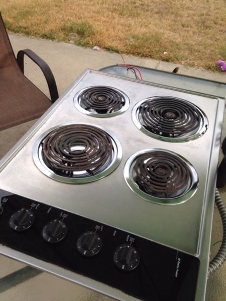 Electric GE Stainless Steel Stove Top