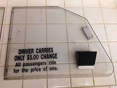 Taxi Cab Police Car Compartment Divider Window for Crown Victoria