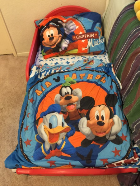 Mickey Mouse Bed with Posturepedic mattressFor ages 1-8